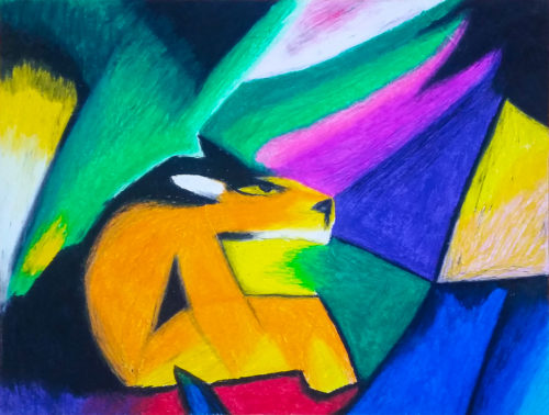 Fox in the Forest Pastel Crayon by Kelly Pride - Small