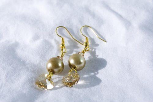 Golden Hearts Earrings