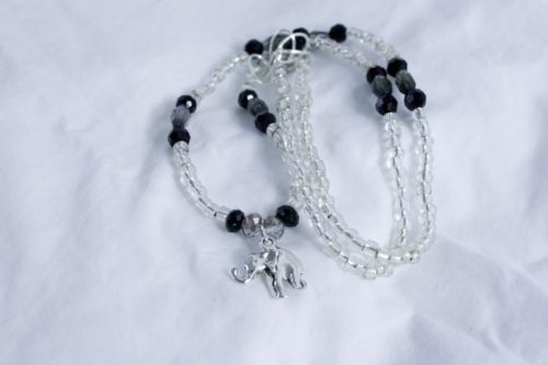 Gray Elephant Necklace