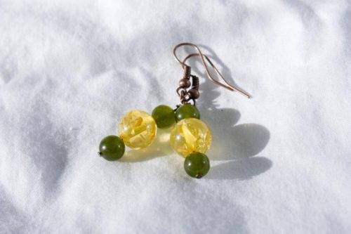 Jade And Gold Drops