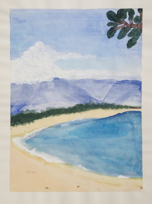 Maine Beach Watercolor Study by Kelly Pride - Small