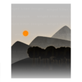 Minimalist Mountains 11x14
