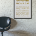 Things We Learn From Cats - 11x14 - Gold