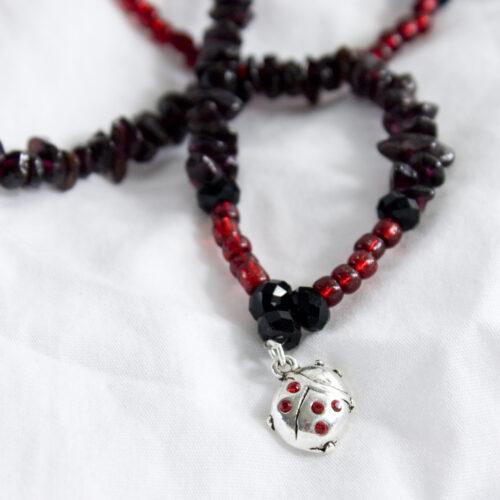 Garne Ladybug Handmade Necklace
