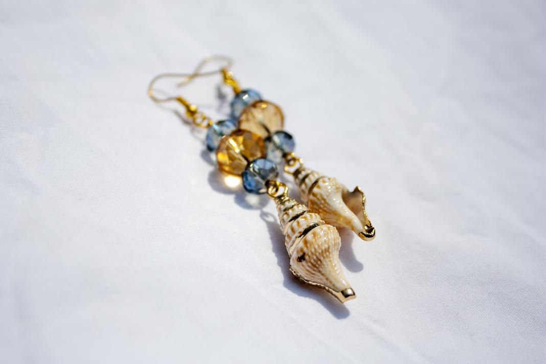 Ogunquit Glamorous Ocean Handmade Earrings